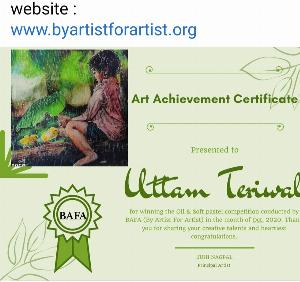 Winner Oil and Soft Pastel Competition